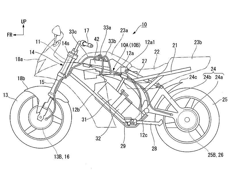 466b9d5c6cd Honda patenta una moto eléctrica con tracción a las dos ruedas
