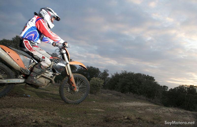 prueba embrague automático Rekluse en una KTM EXC250F