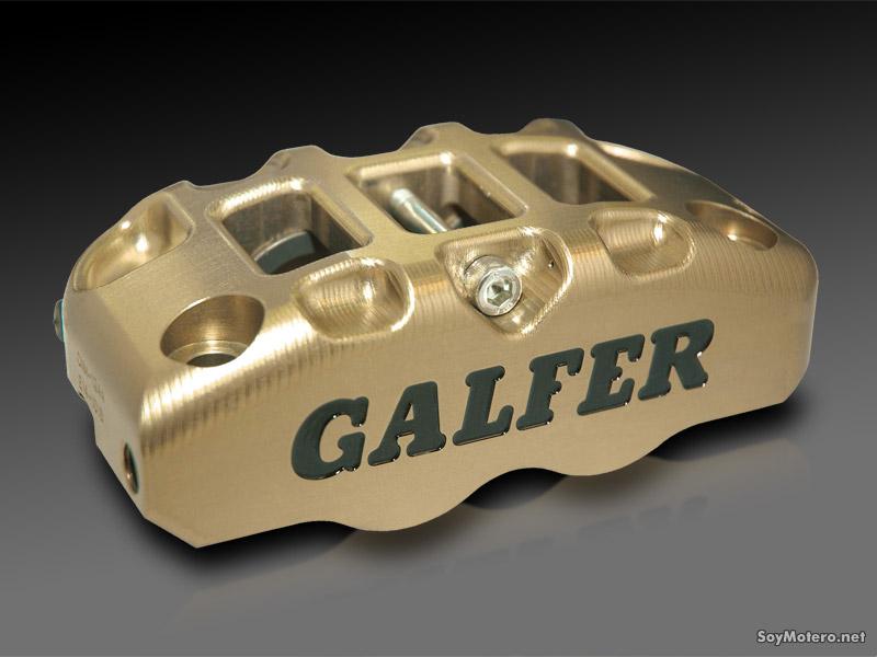 pinza monoblock dorada de Galfer