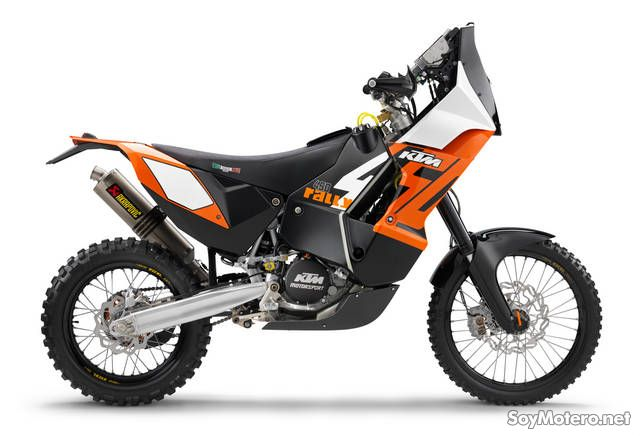 KTM 450 Rally, vista lateral