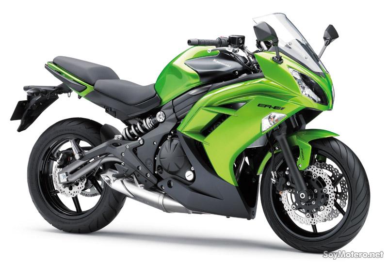 Kawasaki ER-6F 2012 color verde