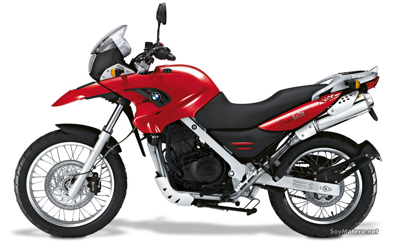 BMW G 650 GS roja, color rojo