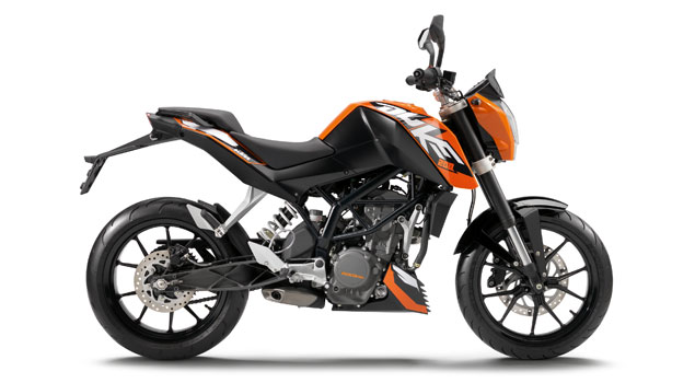 KTM 200 Duke color naranja y negro