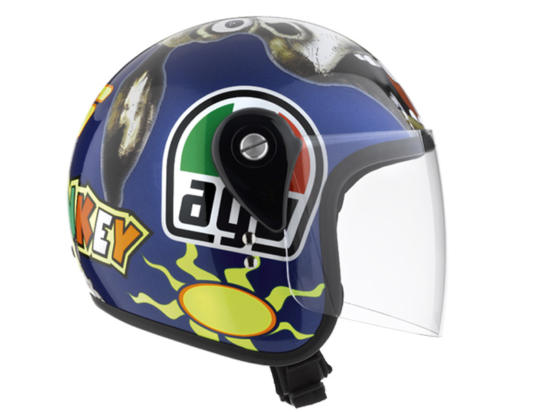 Casco AGV City Junior Open azul