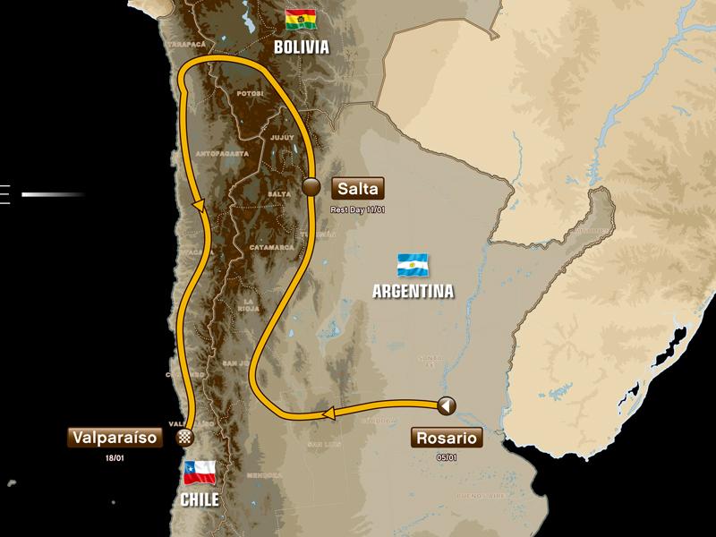 El recorrido del Dakar 2014 cambiará Perú por Bolivia