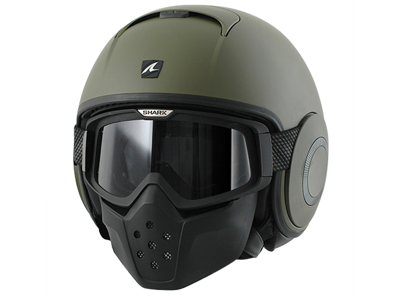 Casco Shark Raw en verde militar.