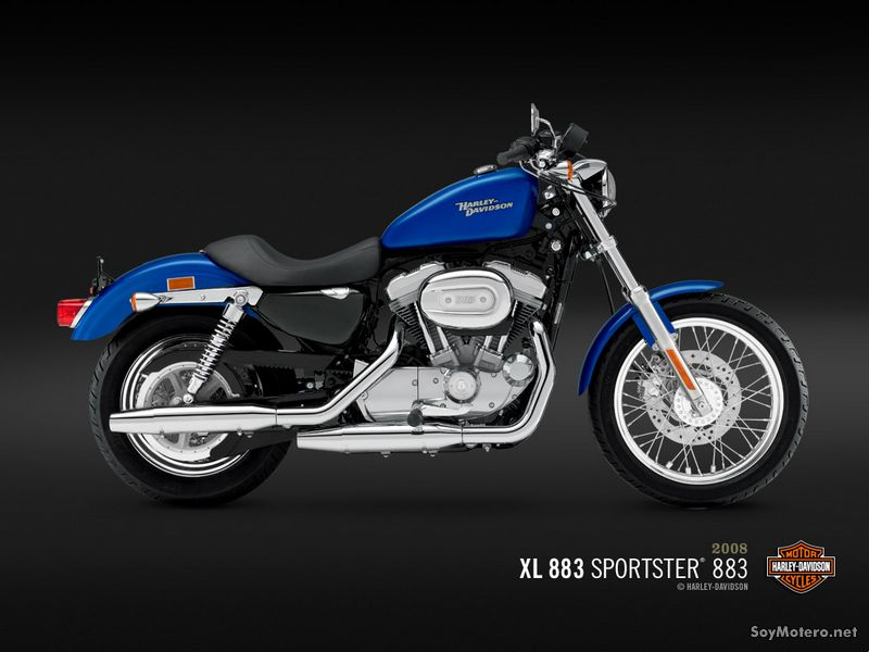 Harley Davidson 883 - XL 883 - Pacific Blue Pearl