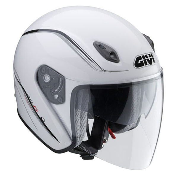 Casco Givi Fiber J-2 blanco frontal