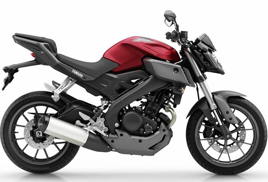 Yamaha MT-125 negra y roja