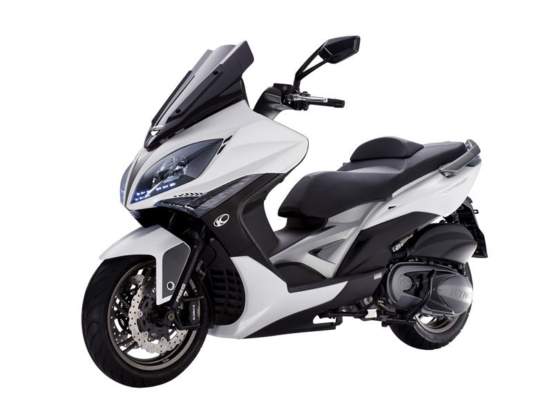 Kymco Xciting 400 ABS blanco perfil izquierdo