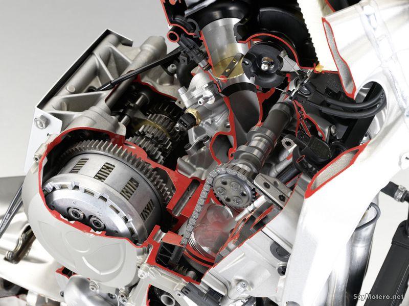 BMW S 1000 RR - Otro vista secciónada del motor