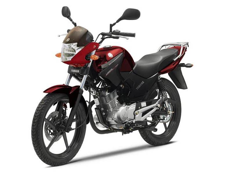 Yamaha YBR 125 2014 roja perfil izquierdo