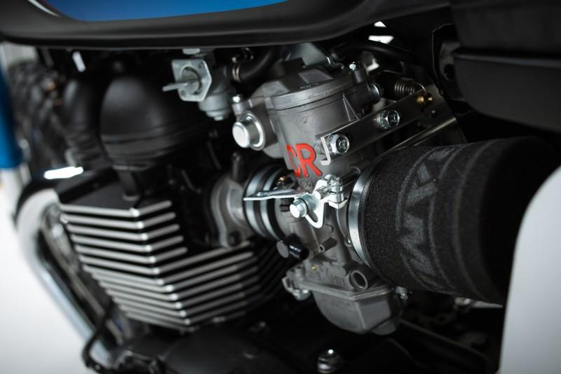 Carburadores Keihin y filtros de alto rendimiento para la Triumph Bonneville BIT1 Barbour