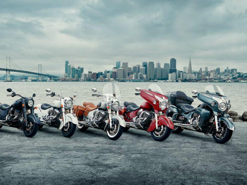 La gama Indian 2016 tendrá seis modelos.