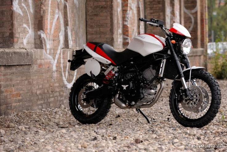 Moto Morini Scrambler - Bianco/rosso con telaio nero