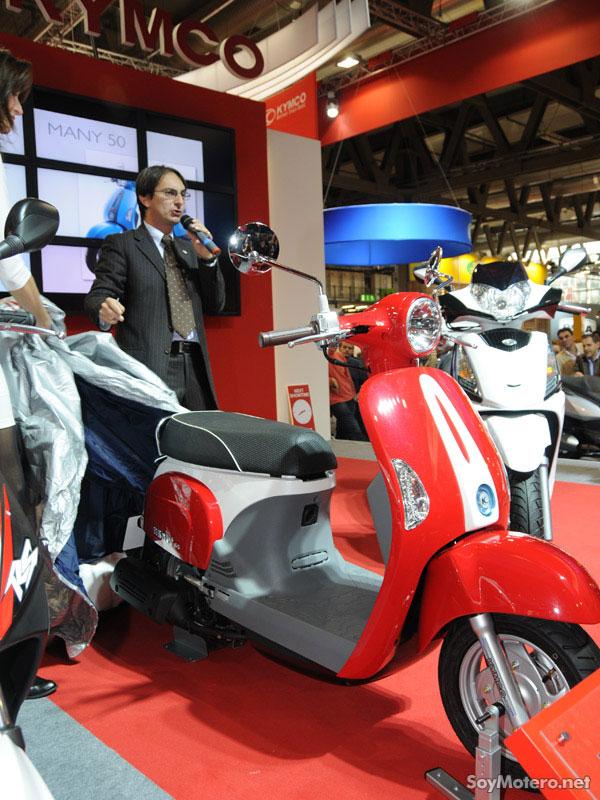 presentación modelos 2010 Kymco en el EICMA de Milán