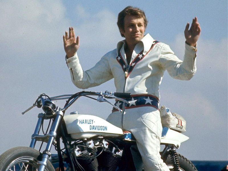 Evel Knievel y su Harley-Davidson: inconfundibles