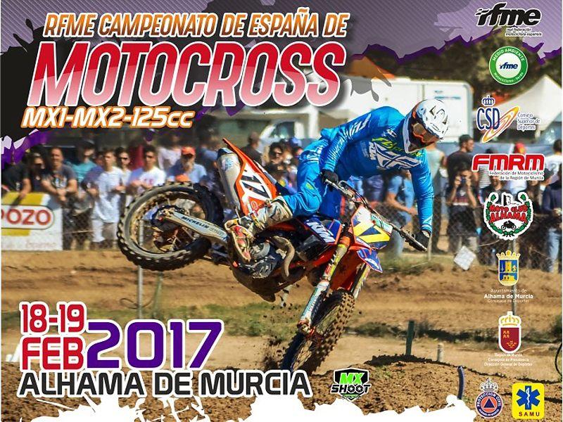 Cartel Nacional MX Alhama 2017.