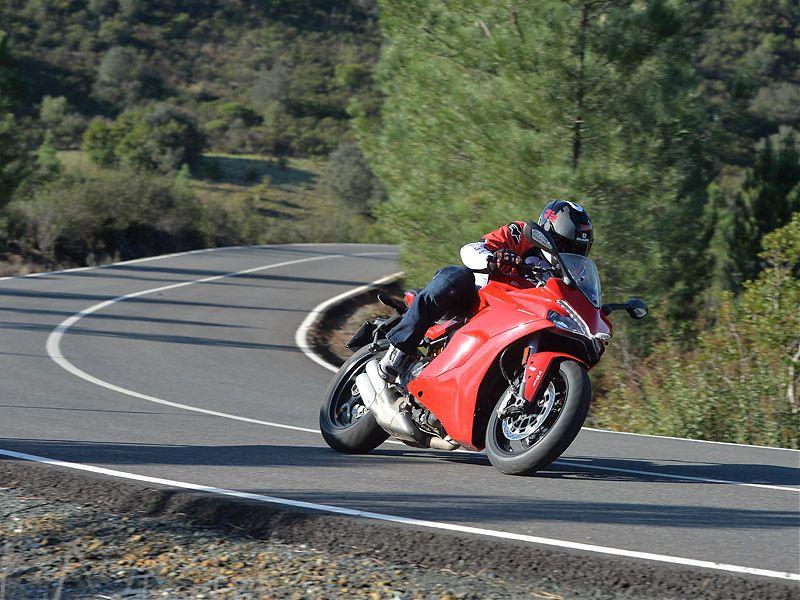 La Ducati Supersport es muy llevadera y cómoda