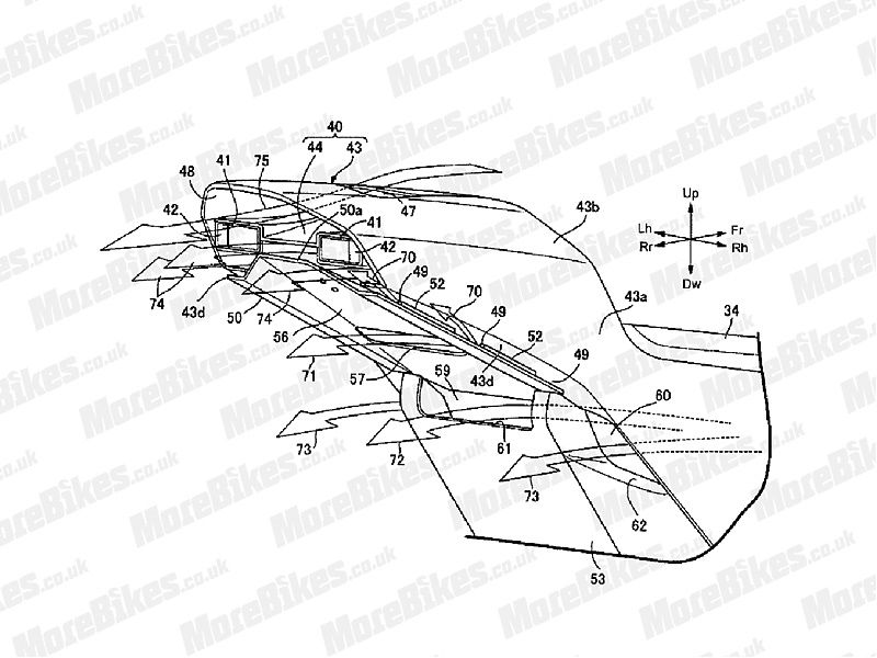 Detalle colín futura Honda V4