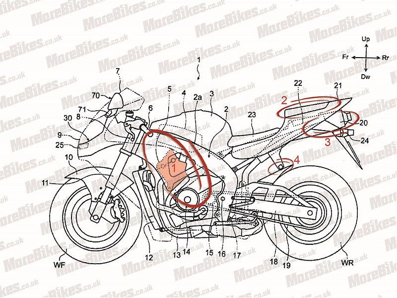 Patente de la posible futura Honda CBR600RR
