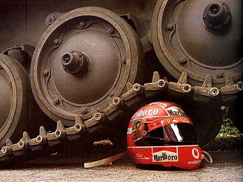 Prueba resistencia casco Schuberth Schumacher