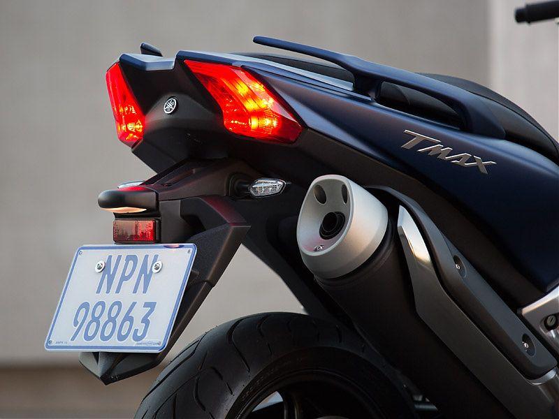 Por primera vez, un Yamaha TMAX emplea doble óptica trasera