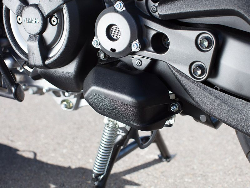 Sistema de bloqueo del caballete en el Yamaha TMAX DX 2017