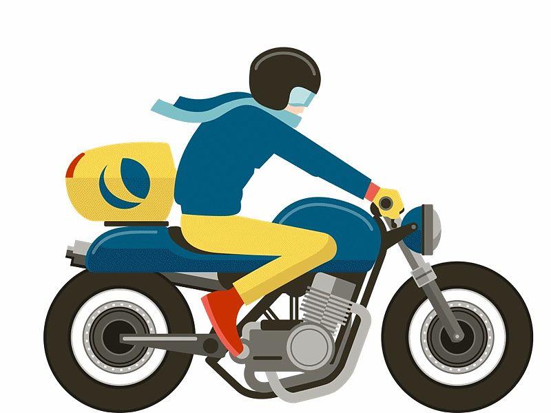 Mensajero en moto