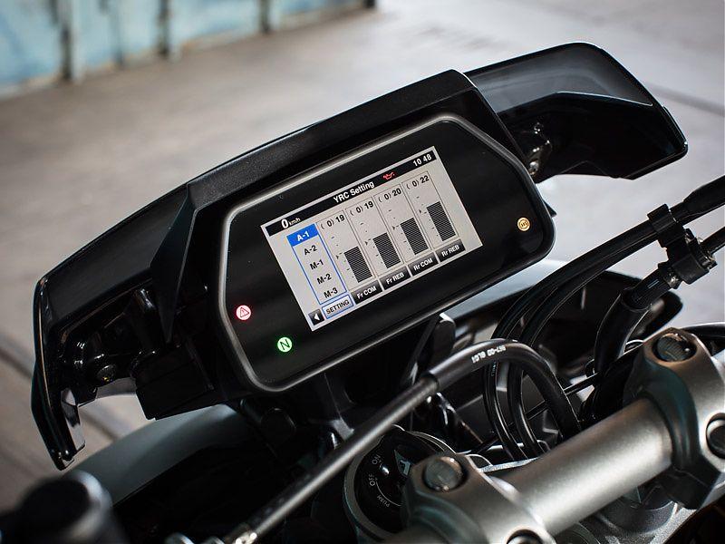 Cinco modos de funcionamiento de la suspensión electrónica en la Yamaha MT-10 SP