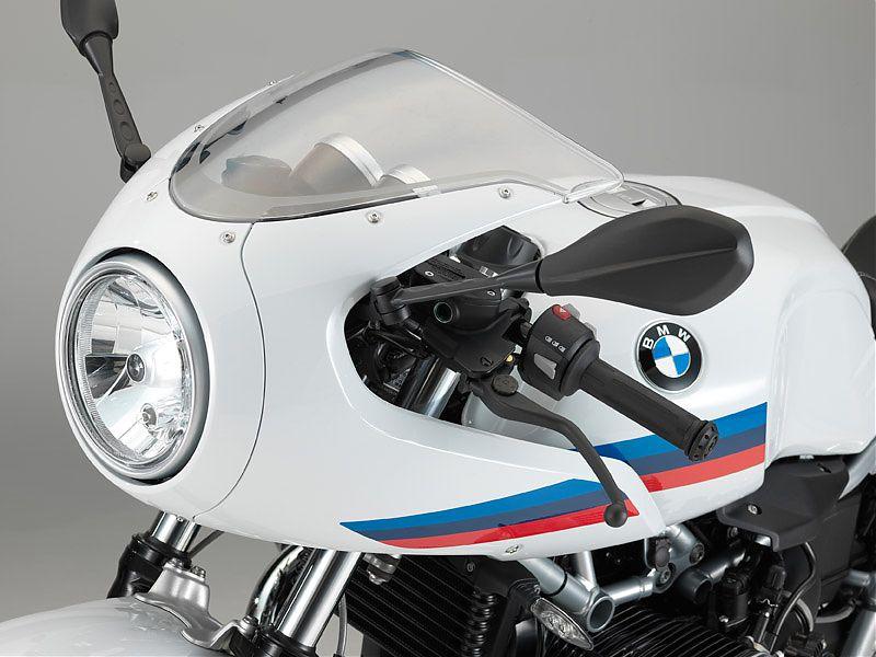 El semicarenado frontal es la pieza más personal de la BMW R nineT Racer