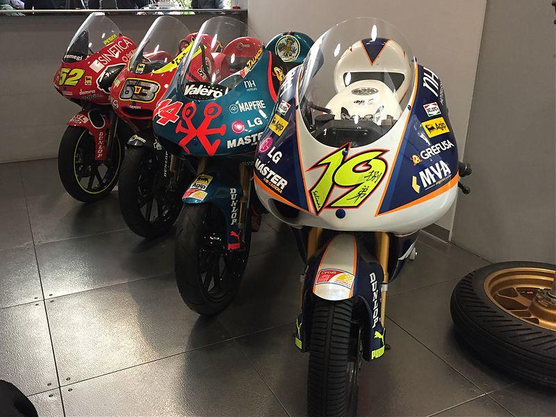 4 motos, 3 Mundiales de 125