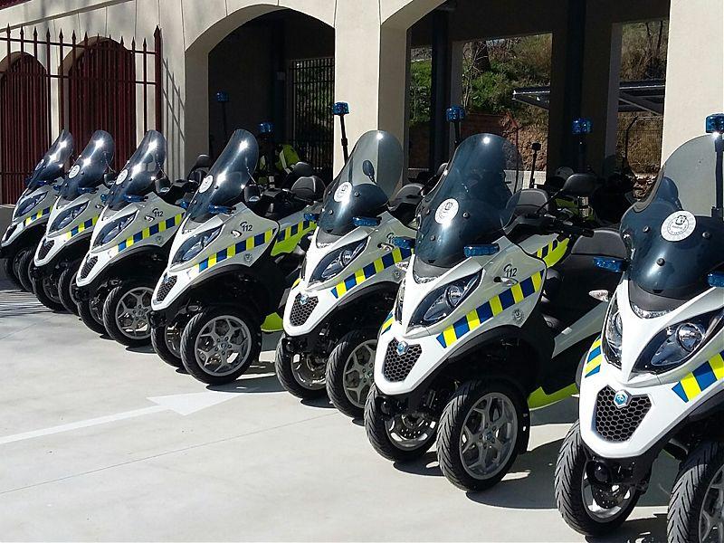 Nuevos Piaggio Mp3 300 ABS y ASR para los agentes de movilidad de Madrid