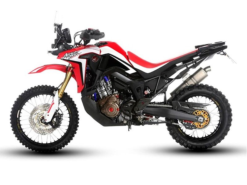 Honda CRF1000L Africa Twin Rally, lateral izquierdo