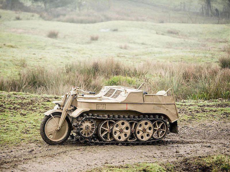Moto-tractor militar NSU Kettenkrad