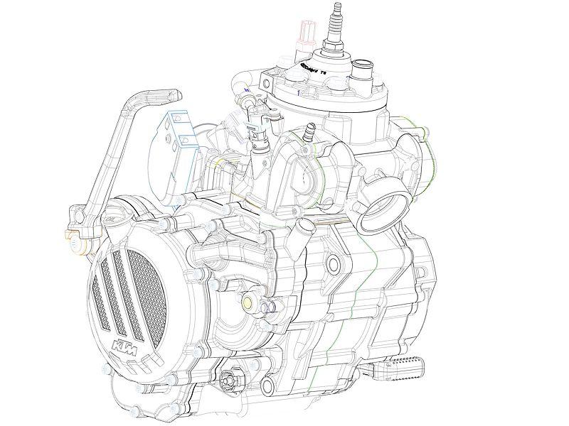 Motor KTM 2T Enduro 2018.
