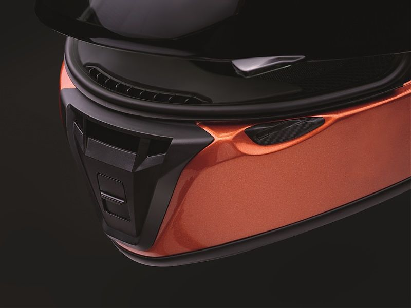 Shoei RYD, detalle frontal