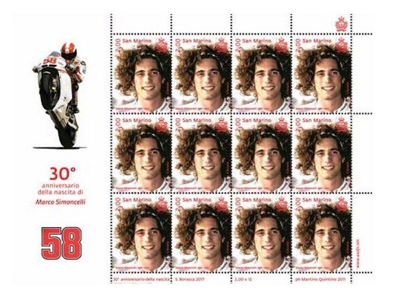 El sello homenaje de Simoncelli se presentará el 29 de marzo