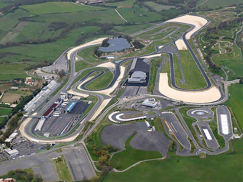 Vista aérea del Circuito de Vallelunga