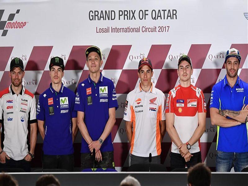 Los protagonistas de la rueda de prensa de Qatar
