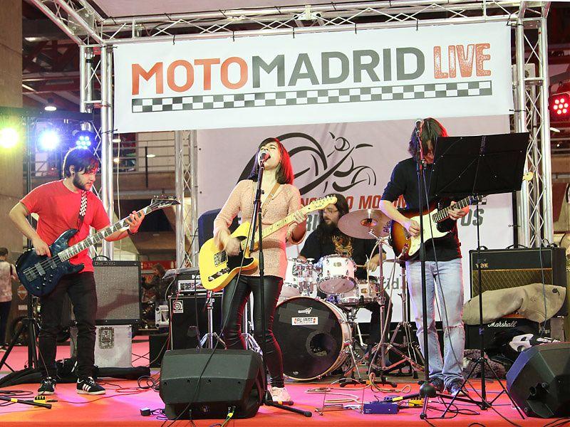 Actuaciones en directo durante MotoMadrid 2017