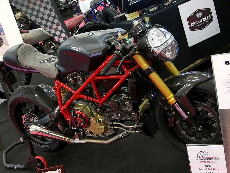 Ducati 749 cafe racer en MotoMadrid 2017