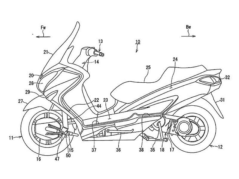 Prototipo de scooter Suzuki con motor eléctrico delantero