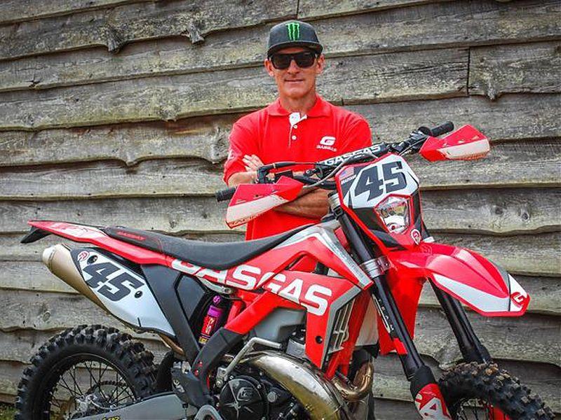 Damon Bradshaw con la Gas Gas EC300.
