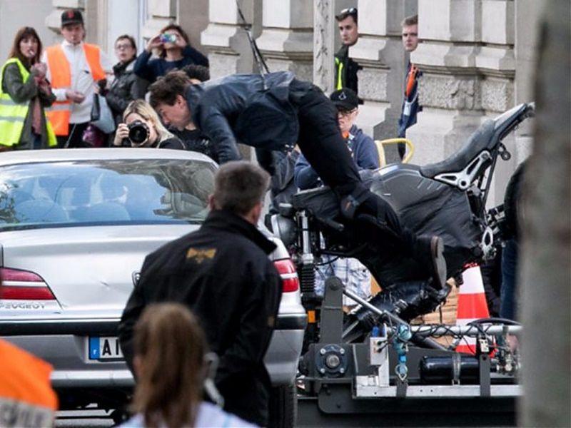 Imagen del accidente de Tom Cruise en MI6