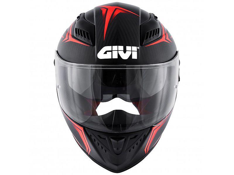 Frontal del nuevo casco 40.5 X-Carbon de GIVI rojo