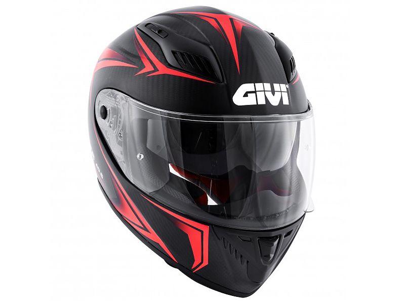 Lateral del nuevo casco 40.5 X-Carbon de GIVI rojo