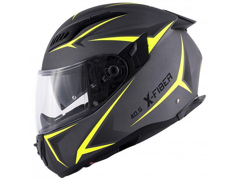Nuevo casco 40.5 X-FIber de GIVI negro y amarillo neón