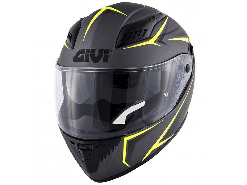 Nuevo casco 40.5 X-FIber de GIVI negro mate y amarillo neón