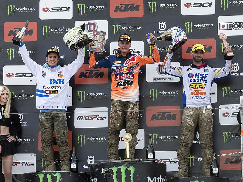 Podio MX2 Rusia 2017.